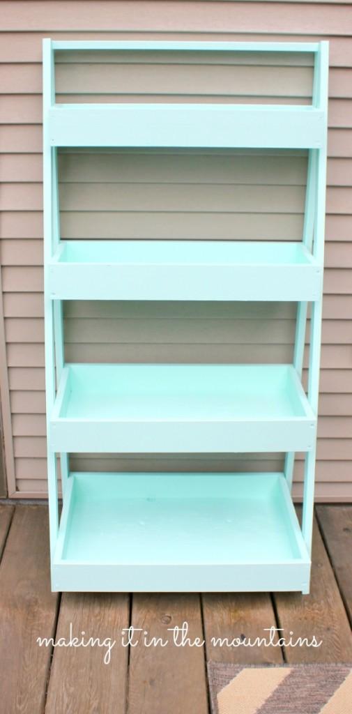 Guest Post Diy Ladder Shelf Anything Amp Everything