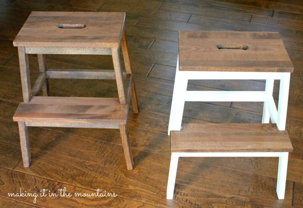 Ikea Stool Makeover @ making it in the mountains