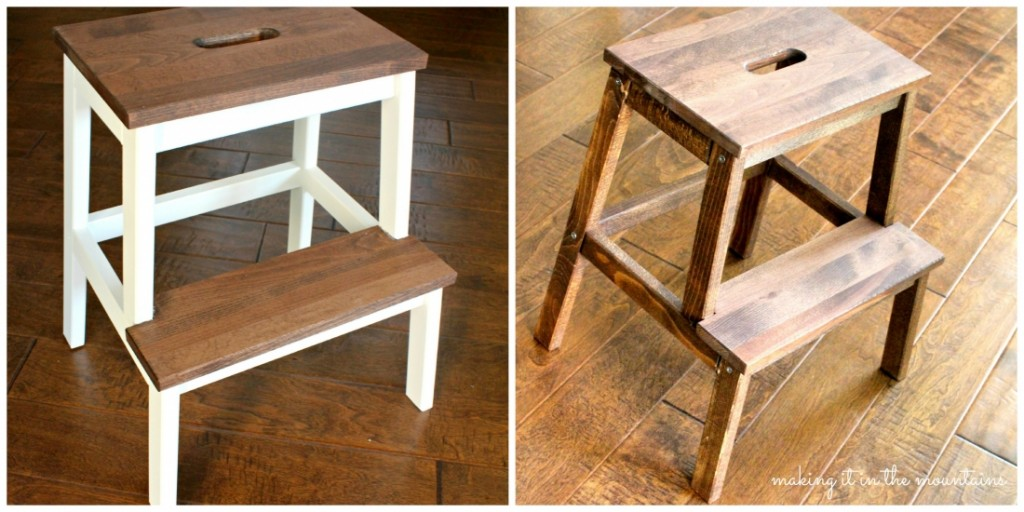 A Quick And Easy Ikea Step Stool Makeover