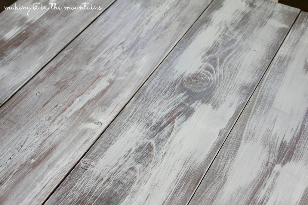 How to Whitewash Wood  Making over our Pottery Barn Inspired