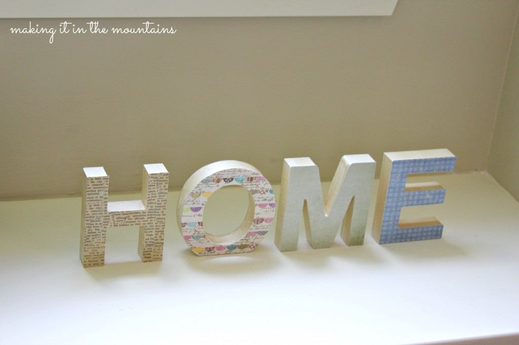 Dollar Store {HOME} sign makeover :: making it in the mountains