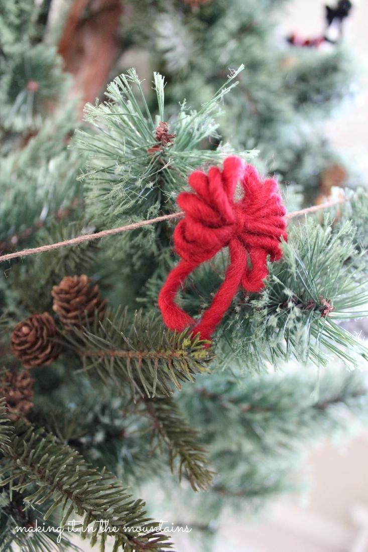 Rustic Christmas Tree Garland Making It In The Mountains