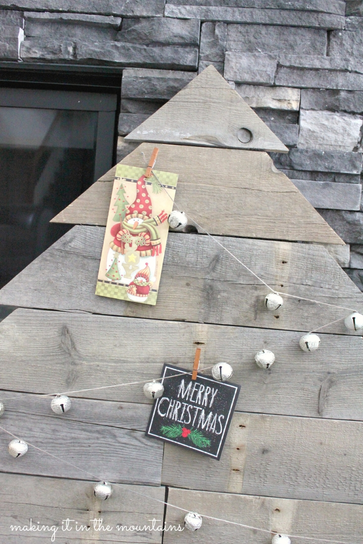 Rustic Pallet Wood Christmas Card Tree Day Ten Of 12 Posts Of Christmas Making It In The Mountains
