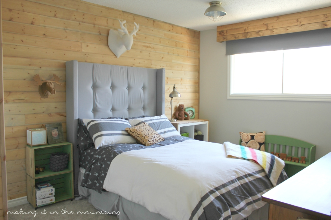 One Week Challenge {The Big Reveal}: Rustic Boy's Bedroom