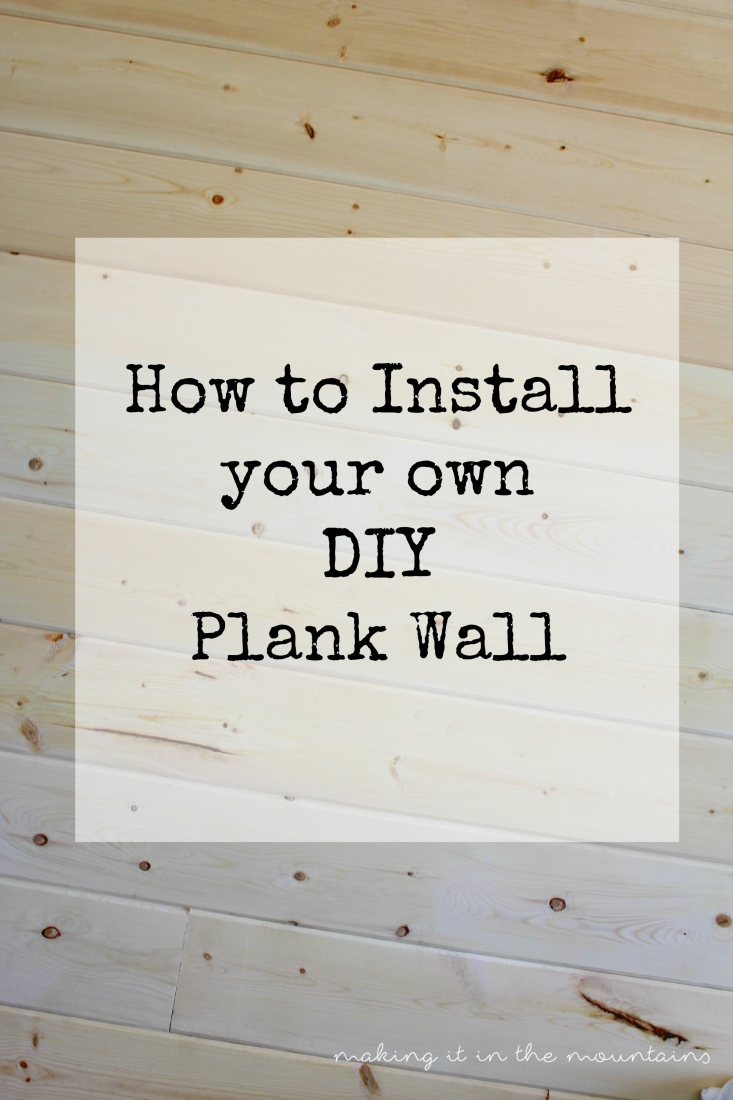 How To Install A Pedestal Sink Orc Week 3 Our Home: How To Install Your Own DIY Plank Wall: Our Version Of