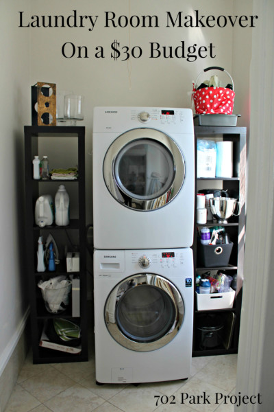 $30 Laundry Room Renovation {702 Park Project}