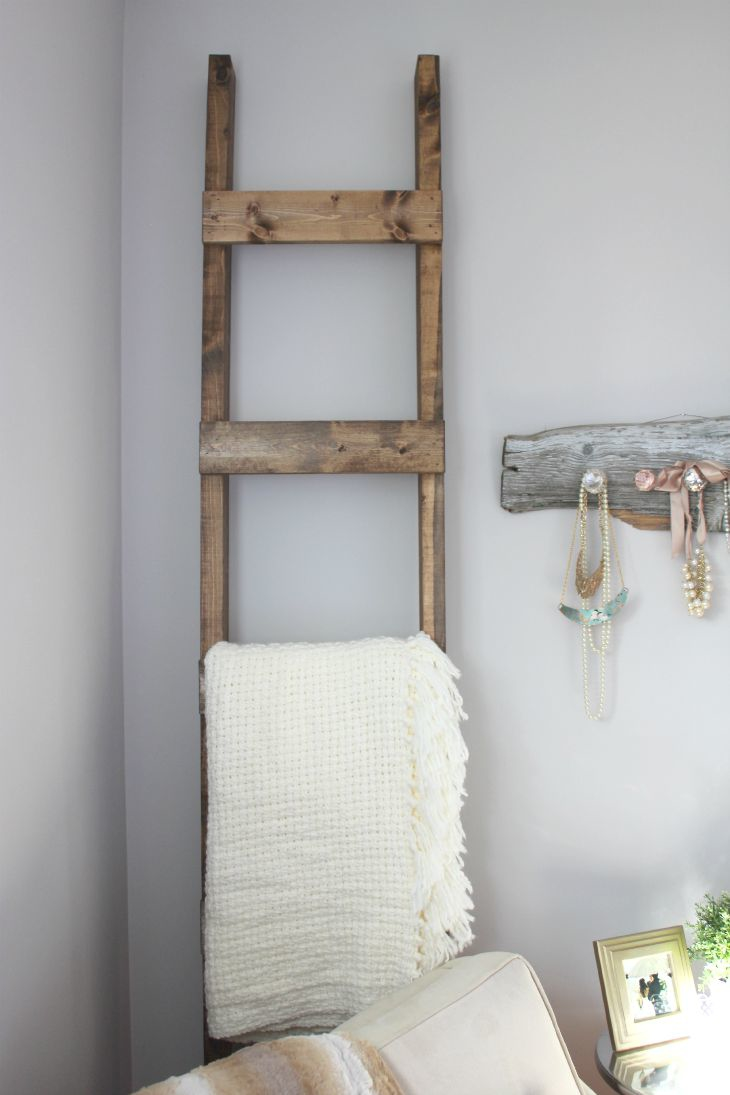 The Easiest Ever Diy Blanket Ladder A Guest Post For Aka