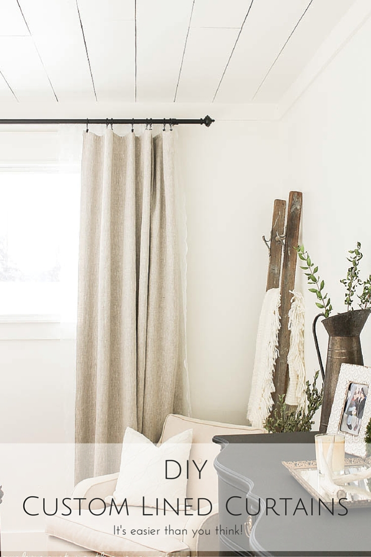 Diy Custom Lined Curtains It S Easier Than You Think Making It In The Mountains