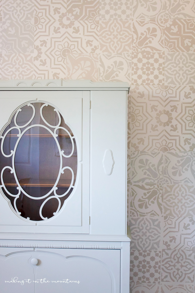 Farmhouse Style Office Storage A Vintage China Cabinet