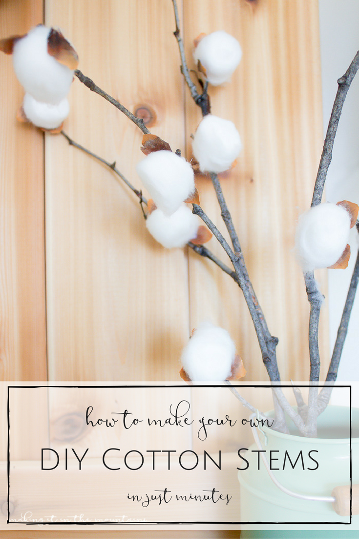 How To Make Your Own Diy Cotton Stems In Just 10 Minutes Making It In The Mountains