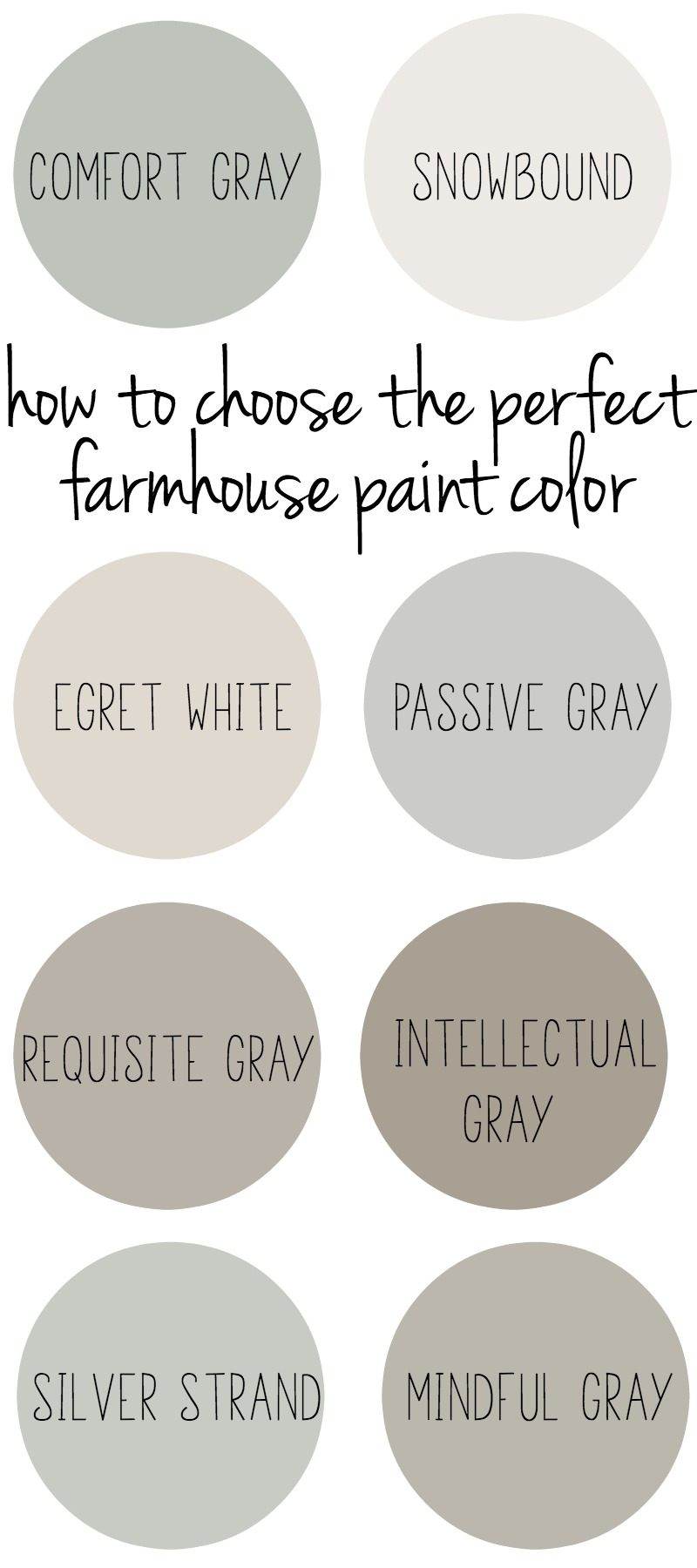 how to choose the perfect farmhouse paint colors. Black Bedroom Furniture Sets. Home Design Ideas