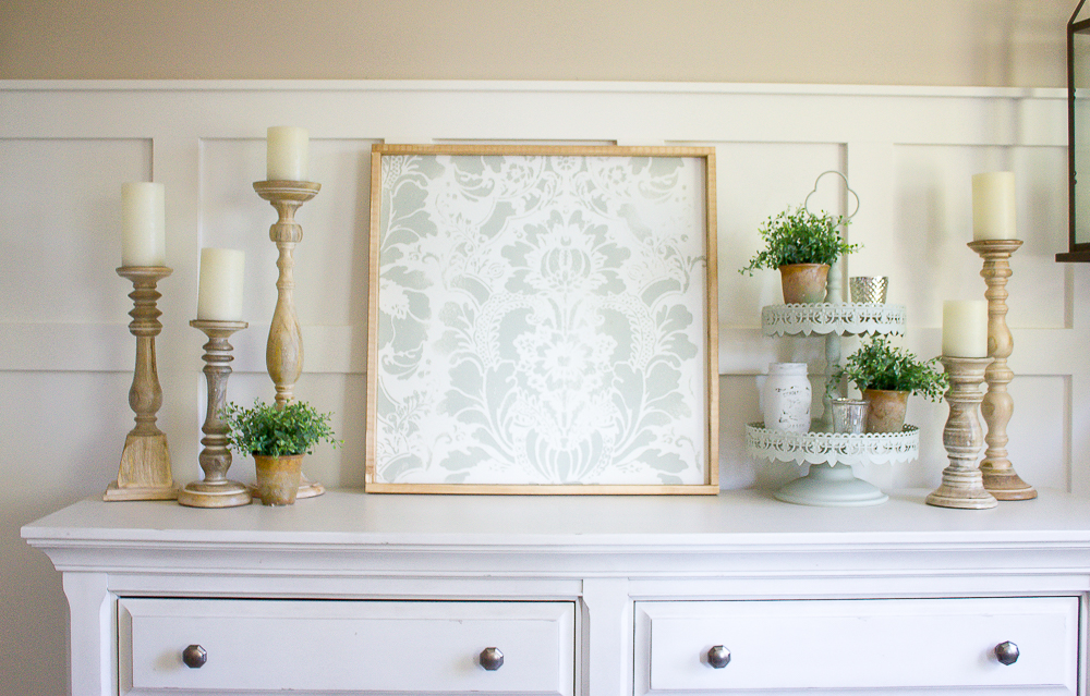 How to make your own farmhouse style diy stencil art for Build your own farmhouse
