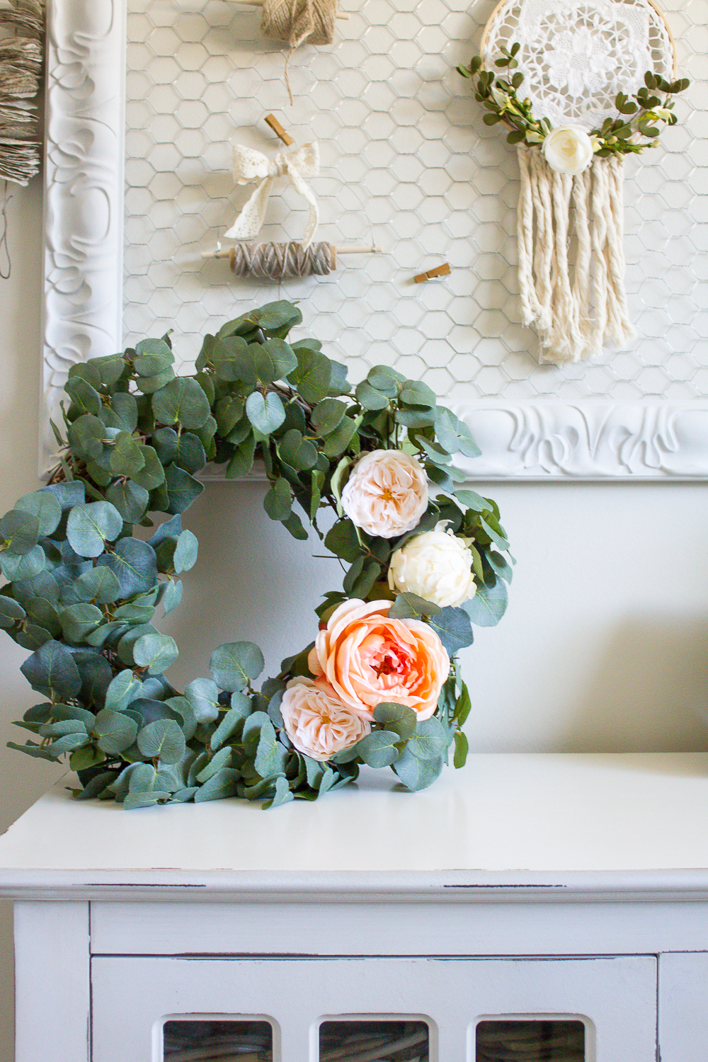Farmhouse Home How To Make Your Own Diy Eucalyptus Wreath Making It In The Mountains
