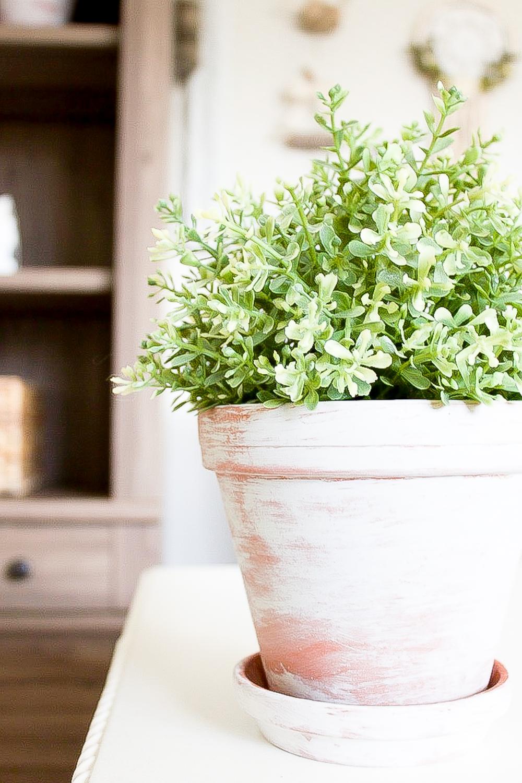 Farmhouse Home Simple Vintage Inspired Whitewash Flower