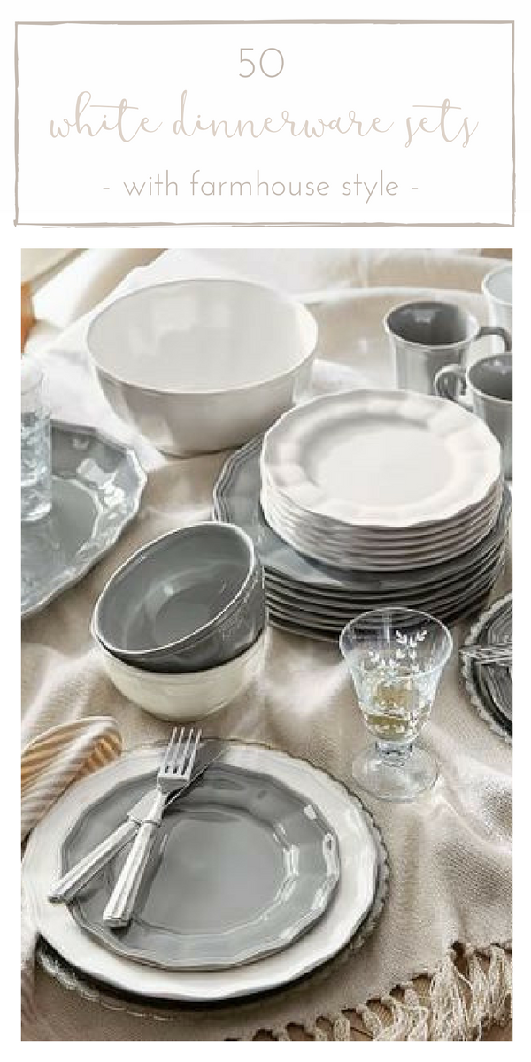 50 Gorgeous White Dinnerware Sets With Farmhouse Style Making It In The Mountains